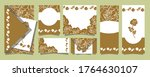 set of postcards with beautiful ... | Shutterstock .eps vector #1764630107