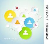 social network concept | Shutterstock .eps vector #176464151