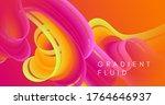 neon liquid art. red wave... | Shutterstock .eps vector #1764646937