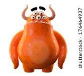 3d Monster  Mascot  Funny...