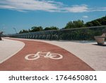 Bike Path With Of Bicycle...