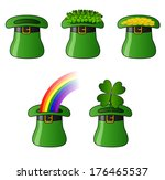 st. patrick hats five... | Shutterstock .eps vector #176465537