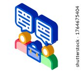 deal conversation of two... | Shutterstock .eps vector #1764675404