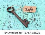 key to life  conceptual photo.... | Shutterstock . vector #176468621