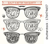 vector set of vintage glasses. | Shutterstock .eps vector #176474657