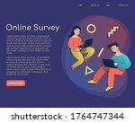 online survey concept with...