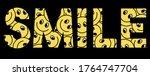 smile slogan t shirt print...   Shutterstock .eps vector #1764747704
