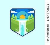 waterfall illustration flat... | Shutterstock .eps vector #1764772631