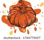 orange spot lineart halloween...   Shutterstock .eps vector #1764779657