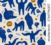 various strange creatures or... | Shutterstock .eps vector #1764796307
