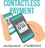 contactless payment mobile scan ... | Shutterstock .eps vector #1764804431