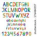 colorful vector font and... | Shutterstock .eps vector #176484557