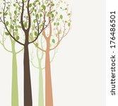 Decorative Trees Background
