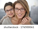 portrait of mother and daughter ... | Shutterstock . vector #176500061