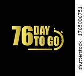 76 day to go gradient label...   Shutterstock .eps vector #1765006751