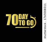 70 day to go gradient label...   Shutterstock .eps vector #1765008311