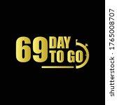 69 day to go gradient label...   Shutterstock .eps vector #1765008707
