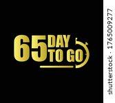 65 day to go gradient label...   Shutterstock .eps vector #1765009277