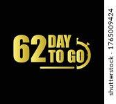 62 day to go gradient label...   Shutterstock .eps vector #1765009424