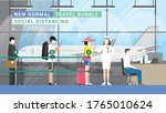 travel bubble concept. after... | Shutterstock .eps vector #1765010624