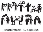 icon of a couple relationship.... | Shutterstock .eps vector #176501855