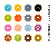 arrows set in circles | Shutterstock . vector #176503601