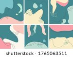 set of eight abstract... | Shutterstock .eps vector #1765063511