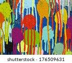 detail of graffiti paint | Shutterstock . vector #176509631