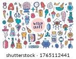 witchcraft cute vector doodle...   Shutterstock .eps vector #1765112441