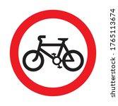 No Bicycle Road Sign. Vector...
