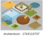 isometric zoo template without... | Shutterstock .eps vector #1765113737