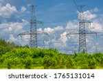 Silhouette Of High Voltage...