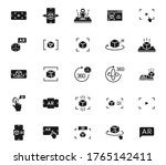 augmented reality black vector...   Shutterstock .eps vector #1765142411