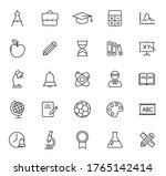 education outline vector icons...