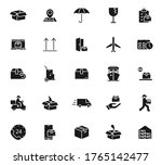 delivery black vector icons...