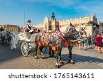 Horses Carriages At Main Square ...