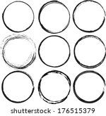 set of round grunge vector... | Shutterstock .eps vector #176515379
