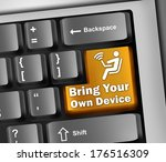 keyboard illustration with byod ... | Shutterstock . vector #176516309