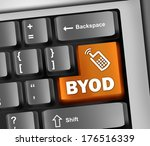 keyboard illustration with byod ... | Shutterstock . vector #176516339