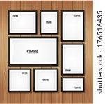 picture frame vector. photo art ... | Shutterstock .eps vector #176516435
