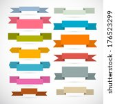 retro ribbons  labels  tags set ... | Shutterstock . vector #176523299