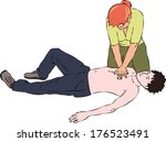 first aid   reanimation... | Shutterstock .eps vector #176523491