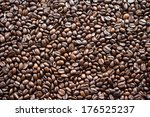 roasted coffee beans  | Shutterstock . vector #176525237
