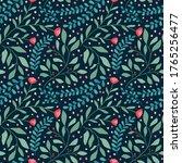 cute vector floral seamless...   Shutterstock .eps vector #1765256477