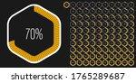 set of hexagon percentage...