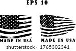 made in usa labels signs.  usa... | Shutterstock .eps vector #1765302341