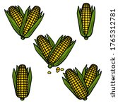 corn set. collection icon corn. ... | Shutterstock .eps vector #1765312781