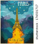 travel to paris poster  ... | Shutterstock .eps vector #176531717