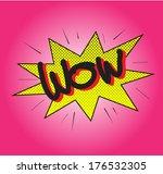 wow text comic vector | Shutterstock .eps vector #176532305