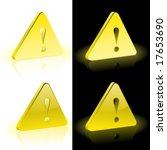 vector warning icon   Shutterstock .eps vector #17653690